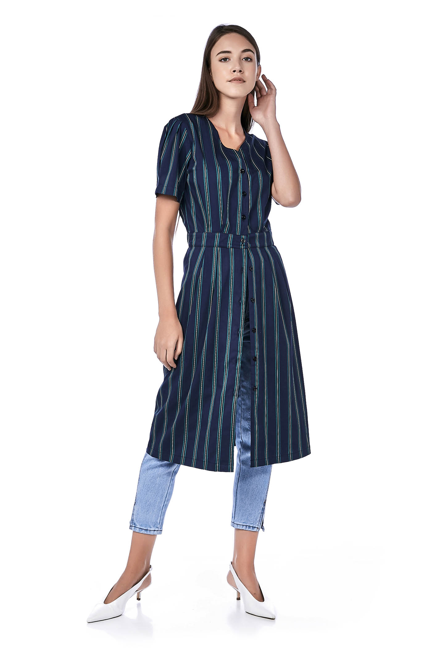 Lucy Button-Through Midi Dress