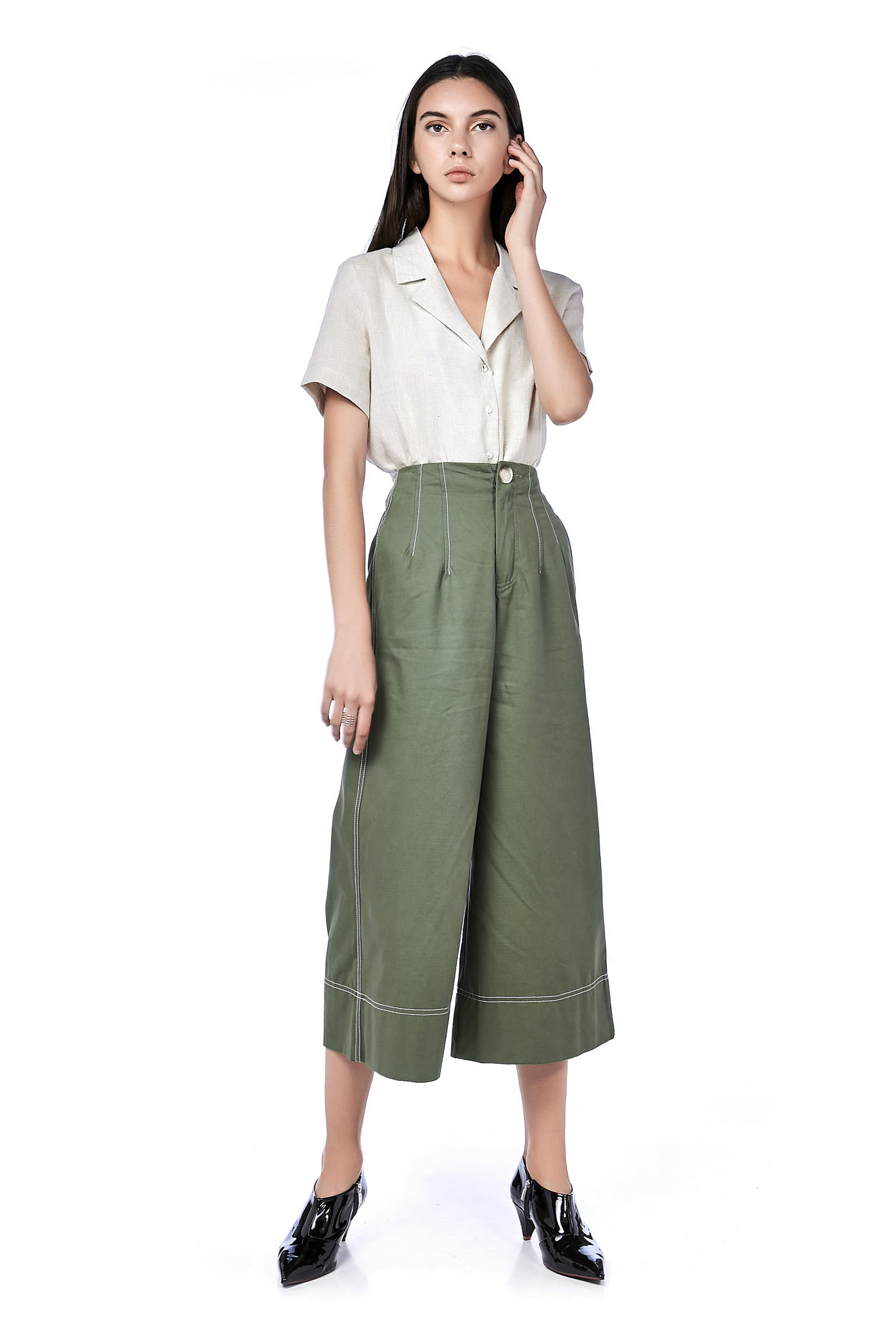 Vivy Top-Stitch Culottes
