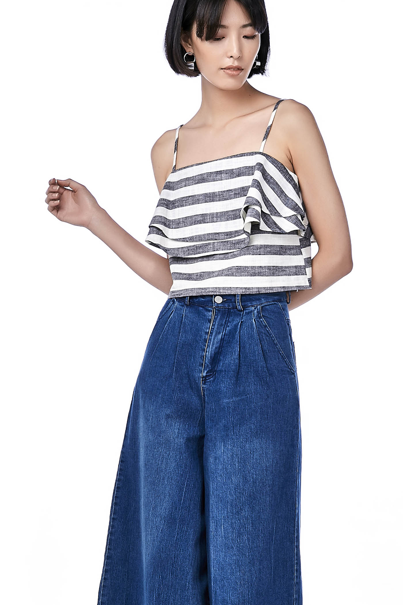 Cheska Tiered Crop Top