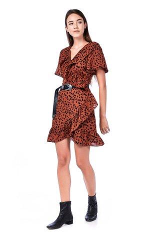 Preicy Ruffle Wrap Dress