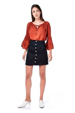 Quirino Wide-Sleeve Blouse