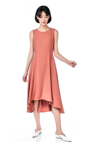 Sacha Dip-Hem Midi Dress