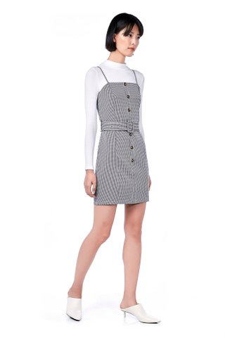 Monny Belted Gingham Dress