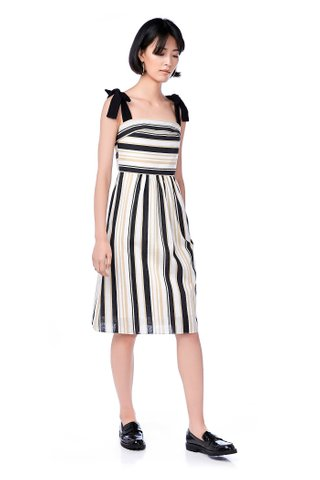 Fressa Mix Stripe Midi Dress