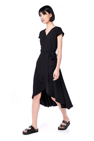Brena Ruffle Wrap Maxi Dress