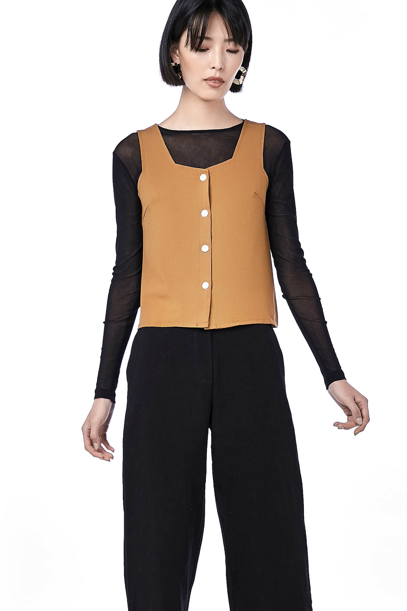 Fally Button-through Top