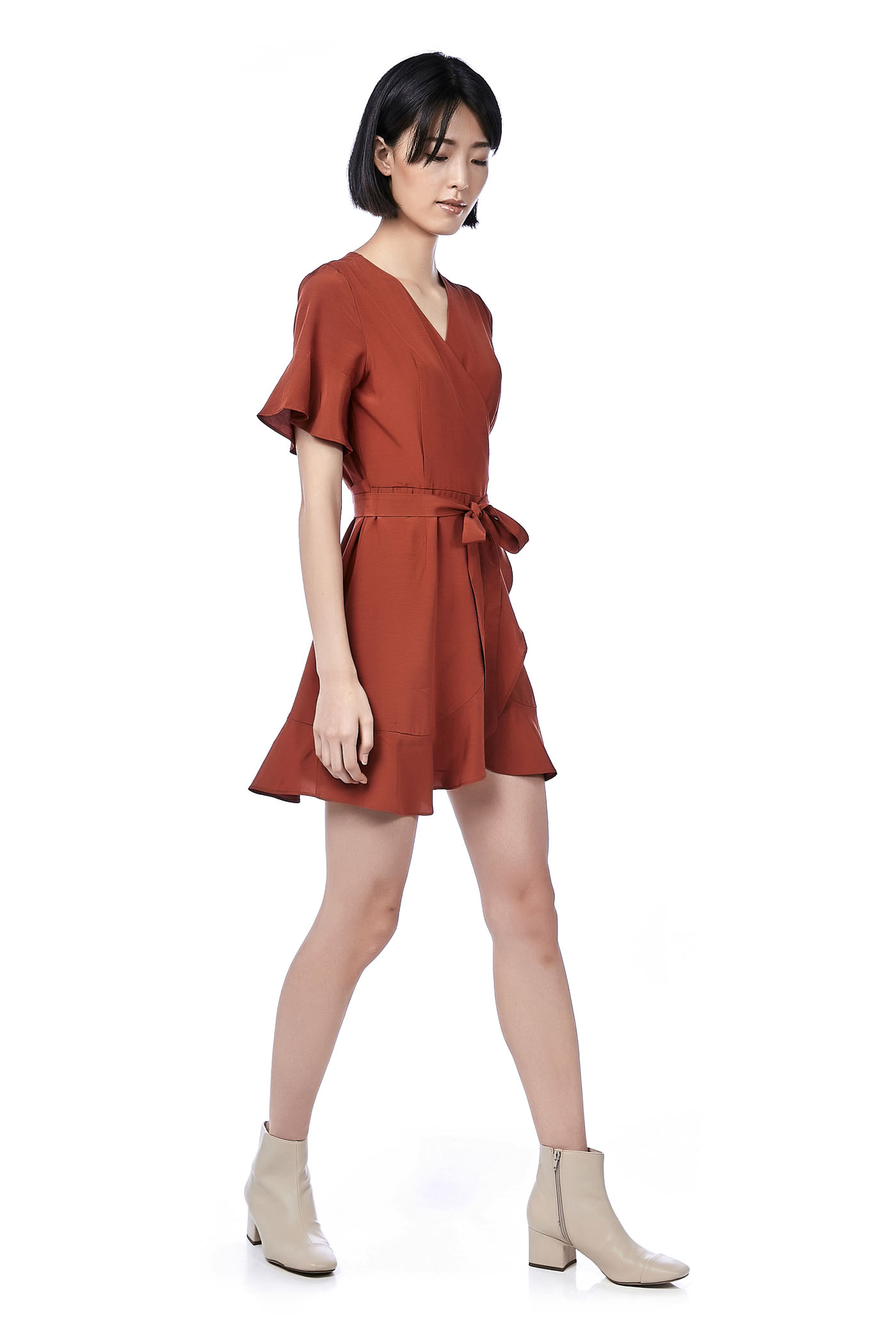 Merique Ruffle Wrap Dress