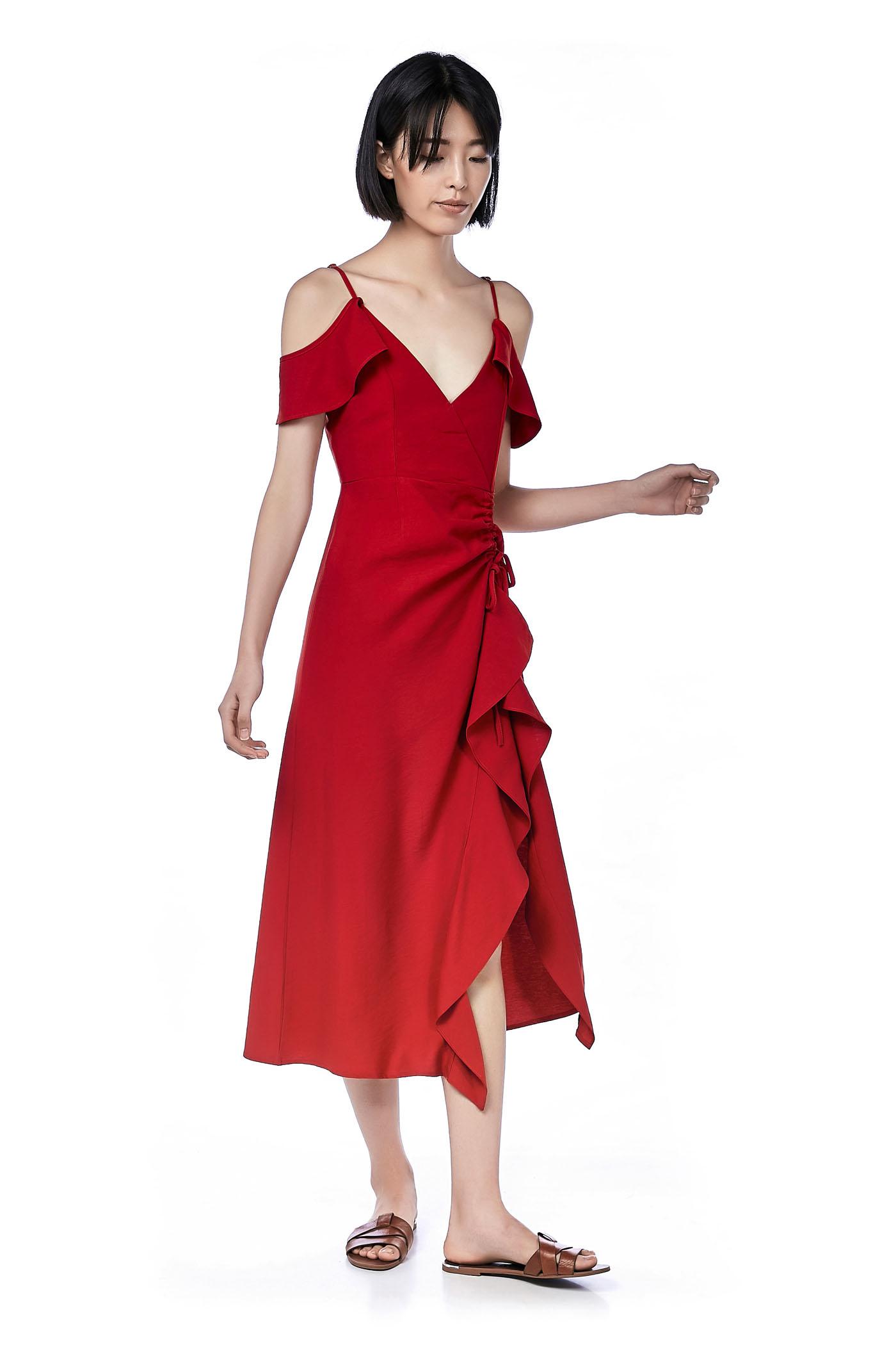 Doris Cold-Shoulder Maxi Dress