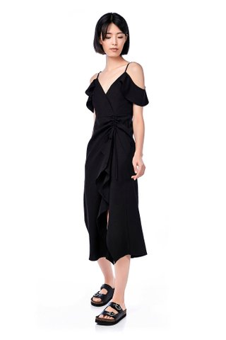 Doris Cold-Shoulder Maxi Dress