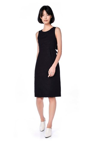 Jones Back-Tie Midi Dress