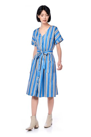 Fernanda Stripe Midi Dress
