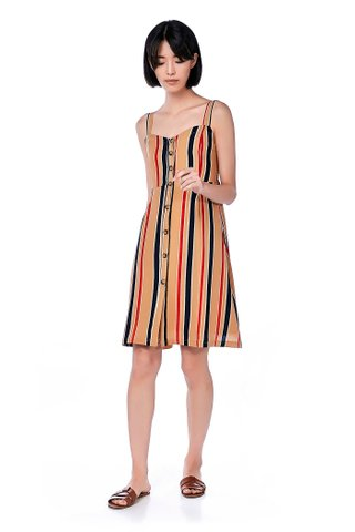 Imena Stripe Midi Dress