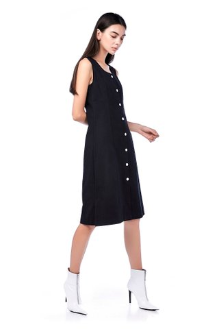 Verny Button-Through Midi Dress