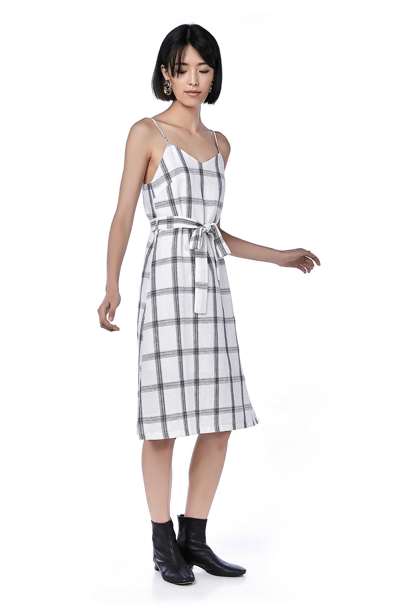 Rejina Belted Midi Dress