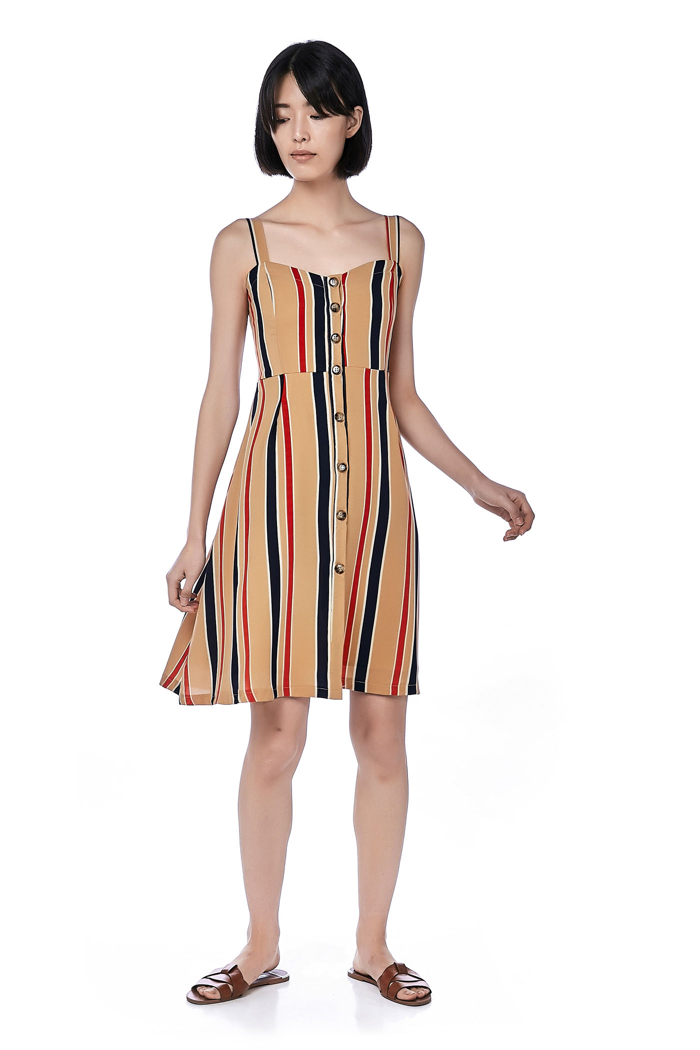 Imena Stripe Midi Dress