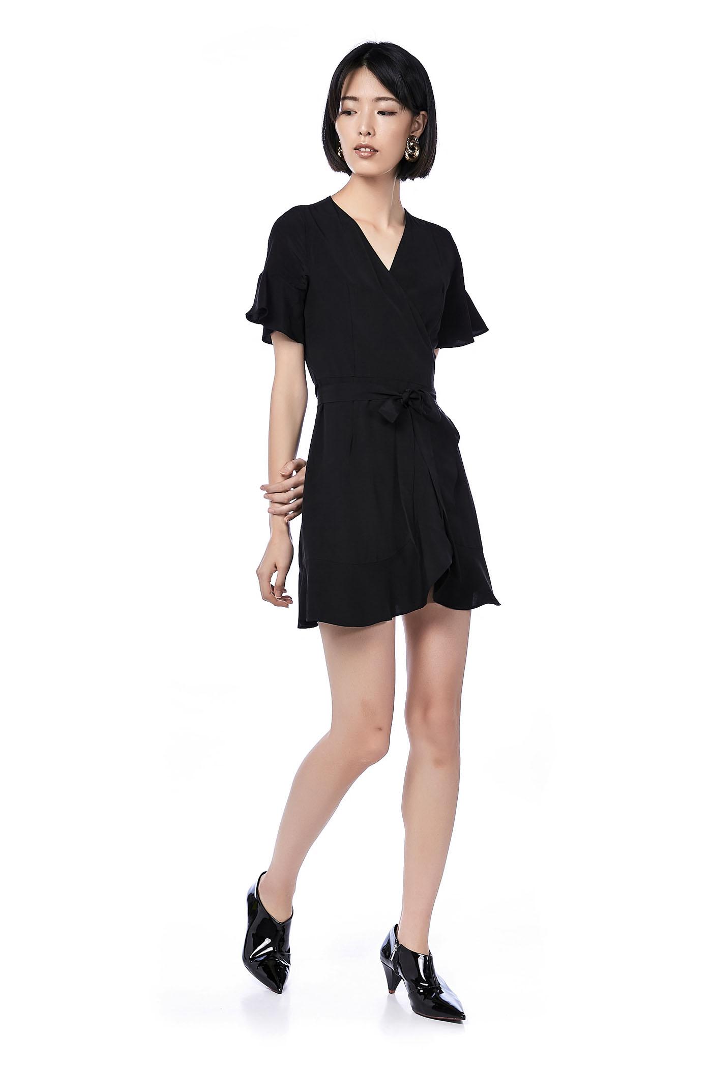Merique Ruffle Wrap Dress