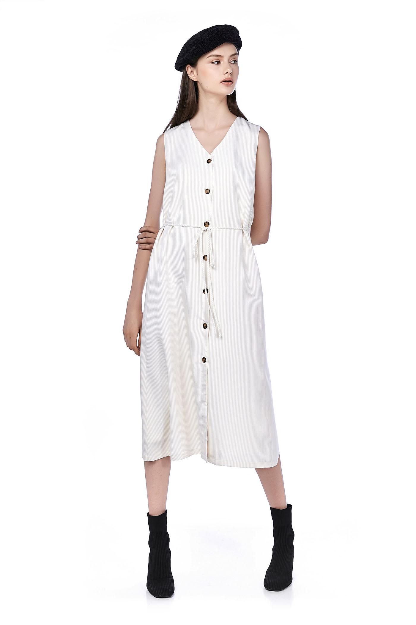Veron Button-Through Maxi Dress