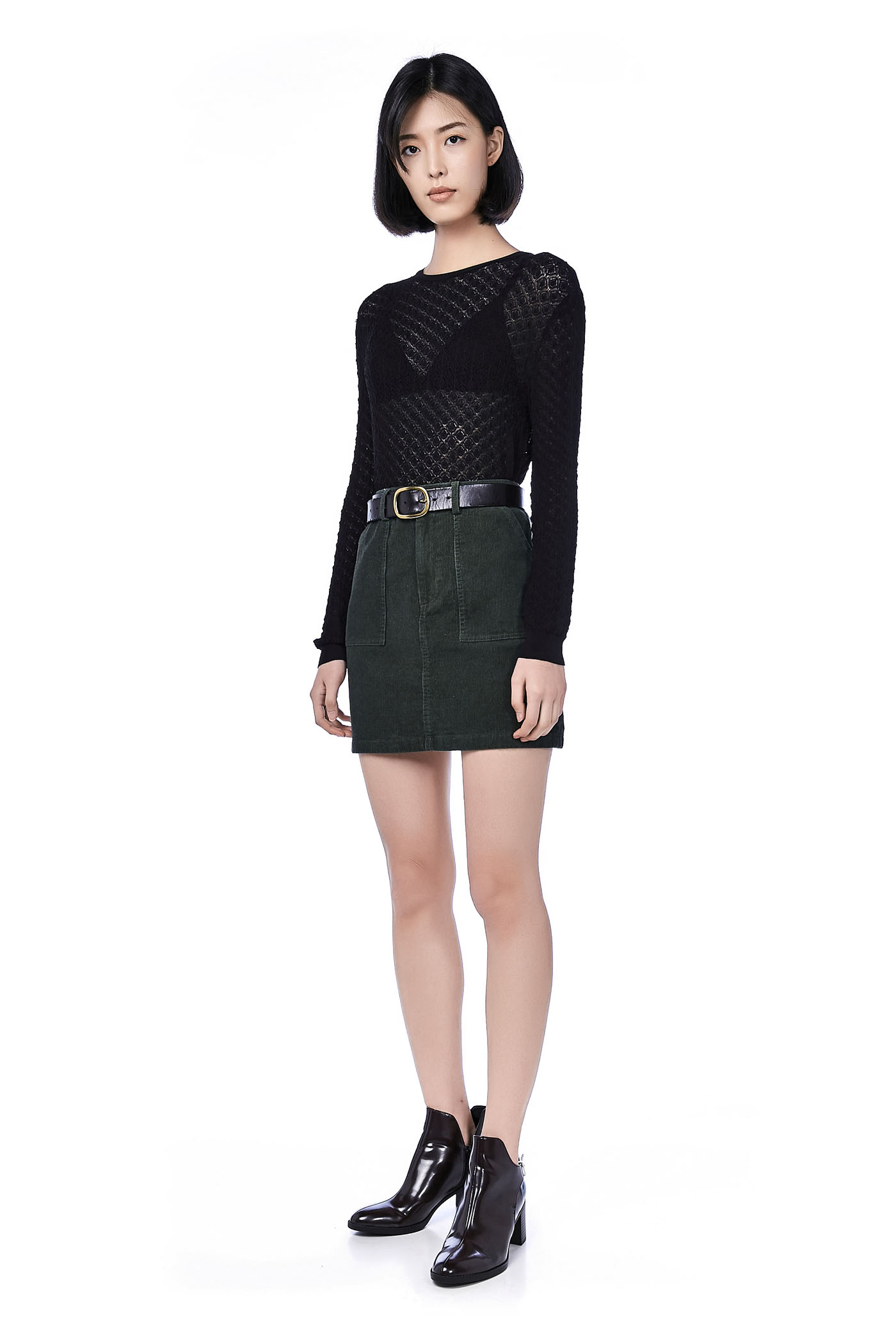 Gela Corduroy Mini Skirt