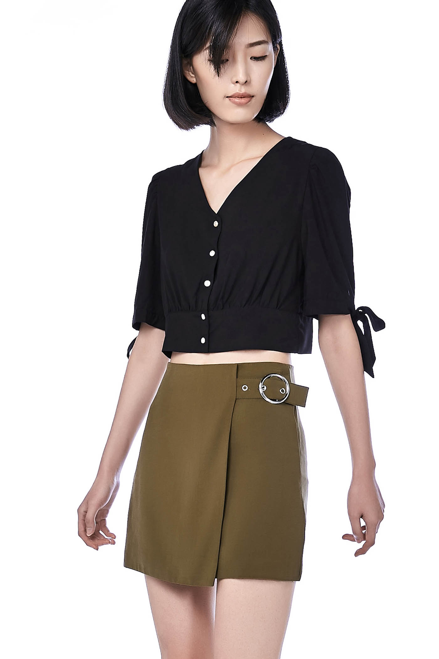 Keri Tie-Sleeve Crop Top