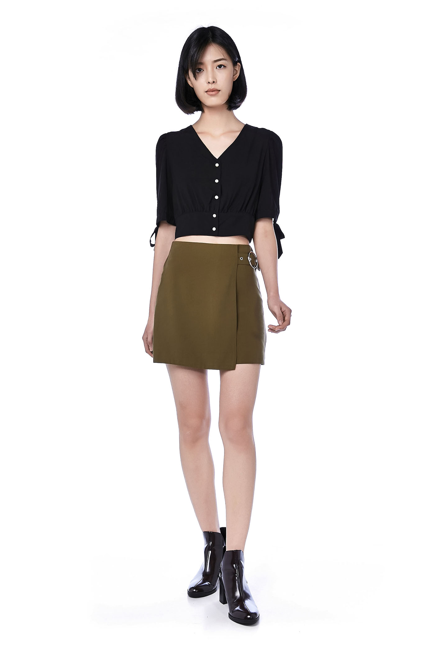 Dolce Side-buckle Skirt