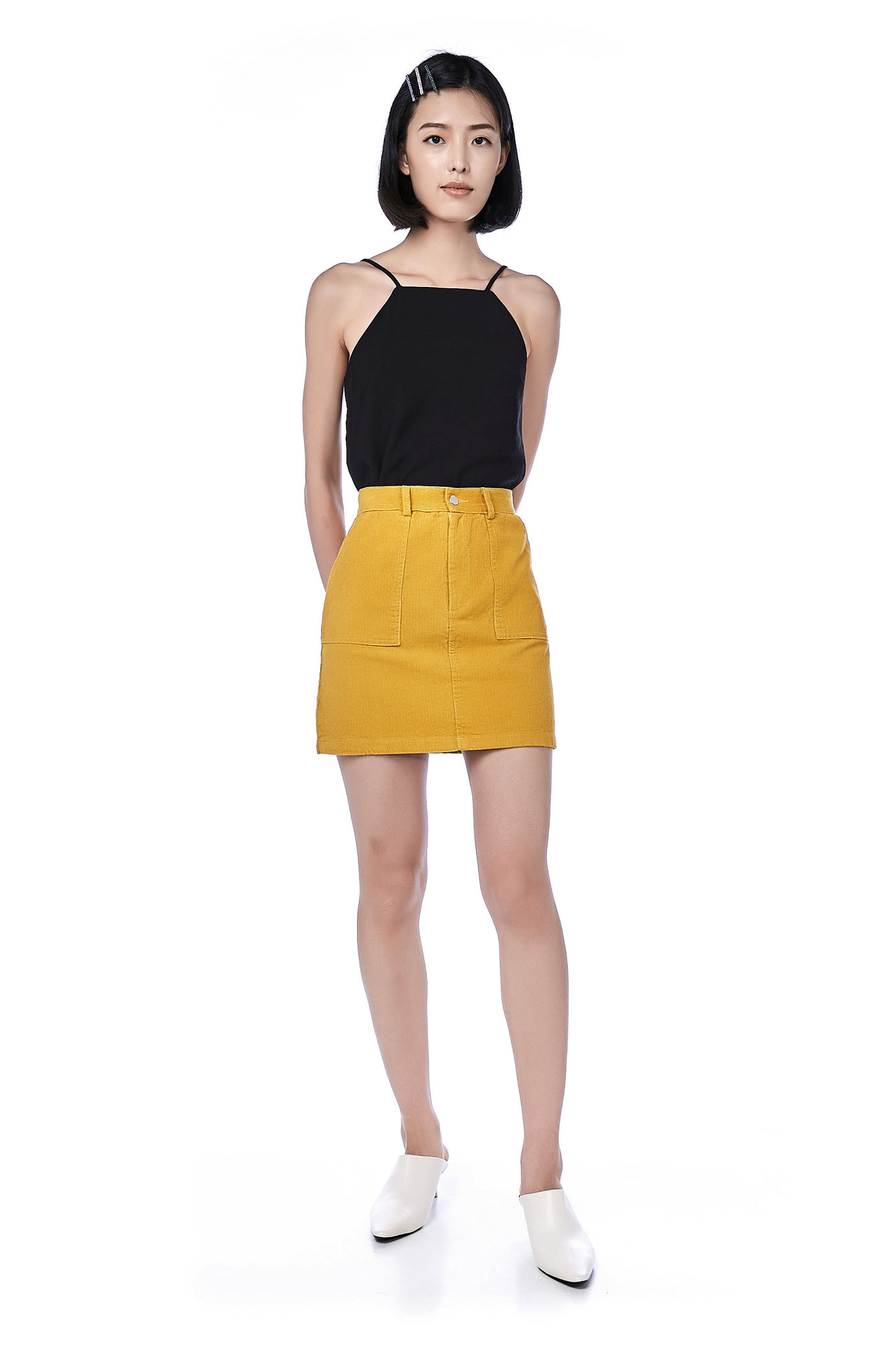 Gela Corduroy Mini Skirt