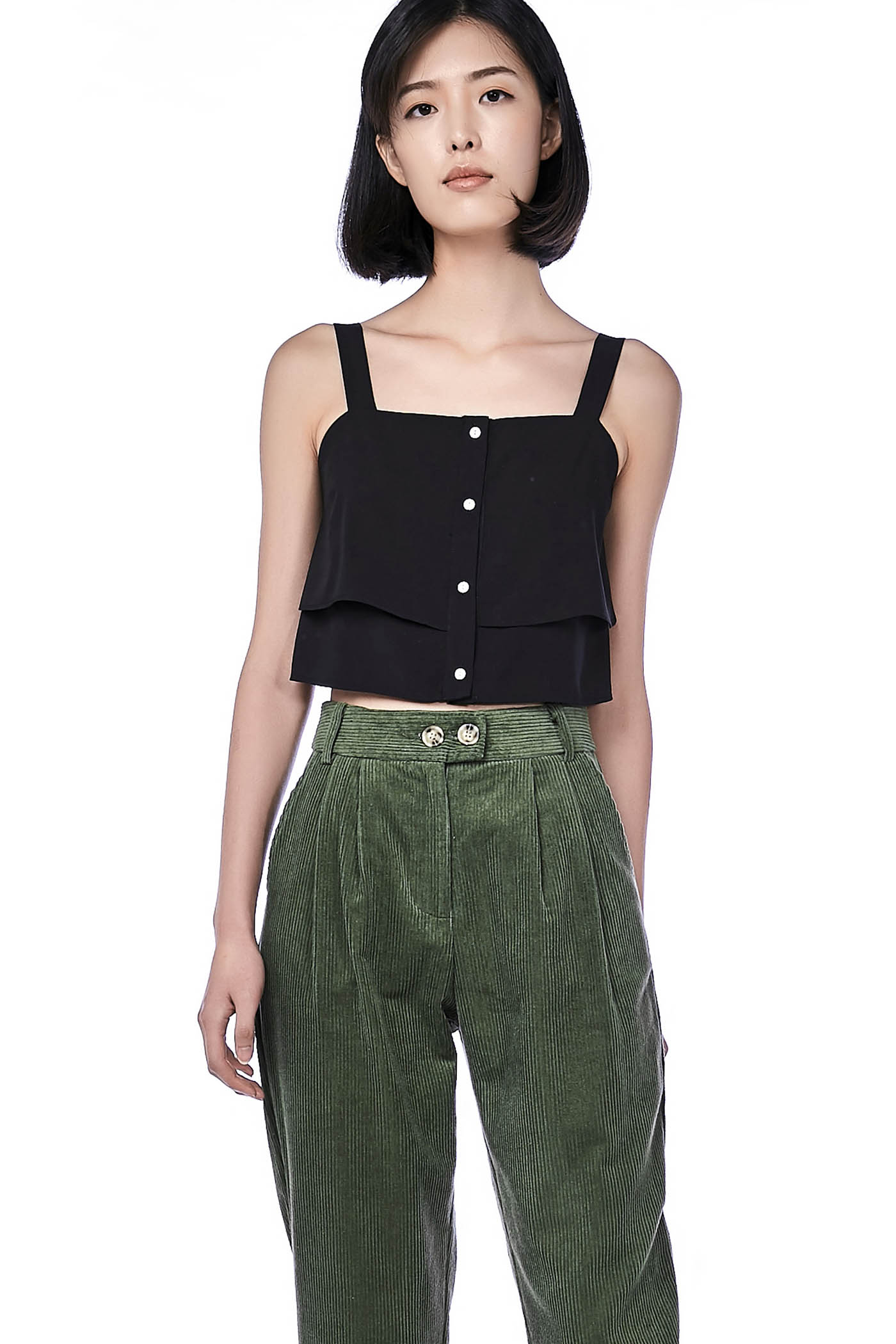 Camellia Layered Crop Top