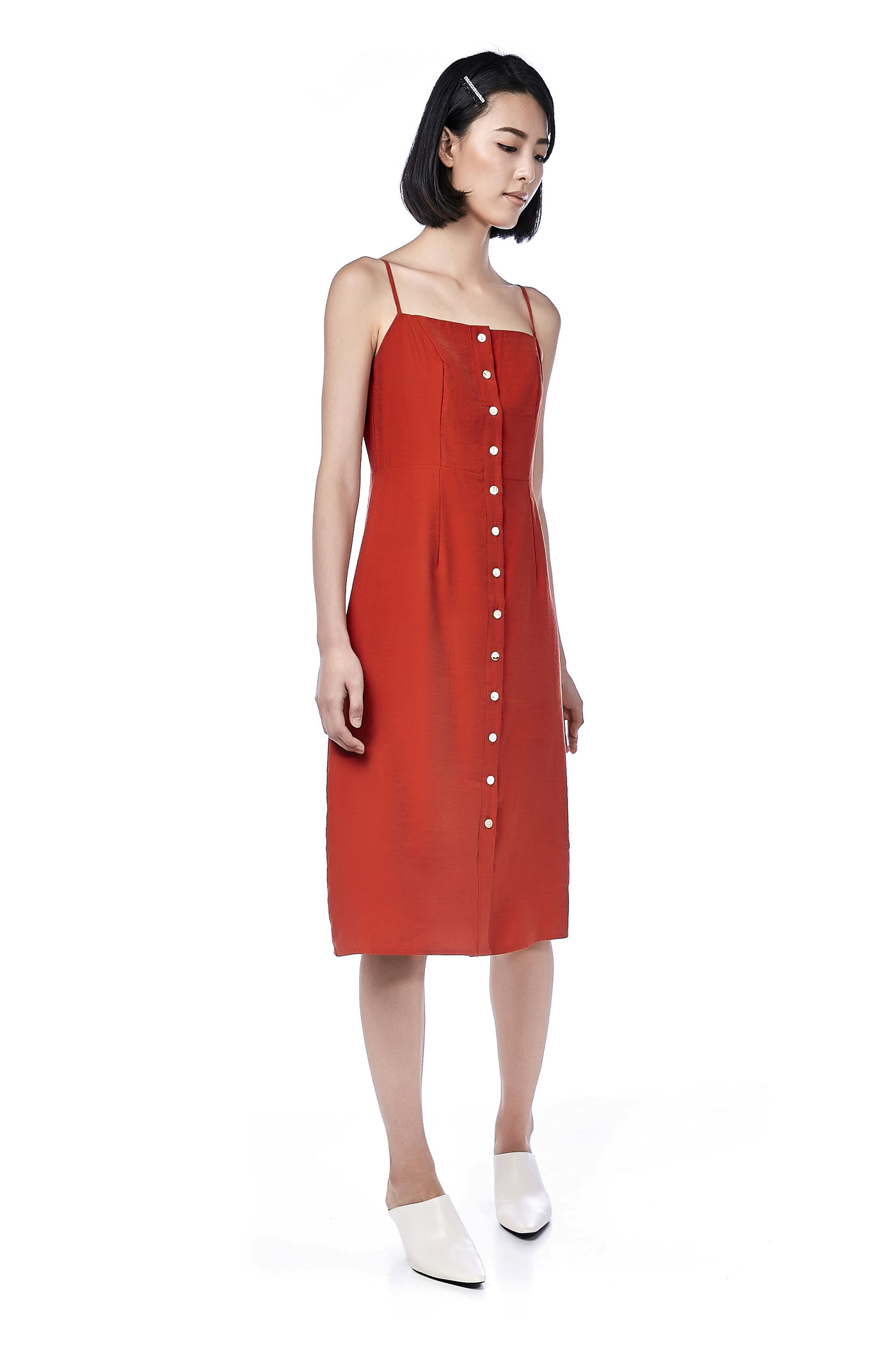 Maika Button-Through Midi Dress