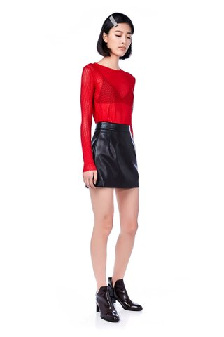 Meena Leather Mini Skirt