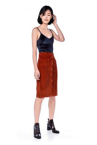 Norah Corduroy Midi Skirt