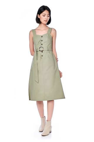 Adela Belted Midi Dress