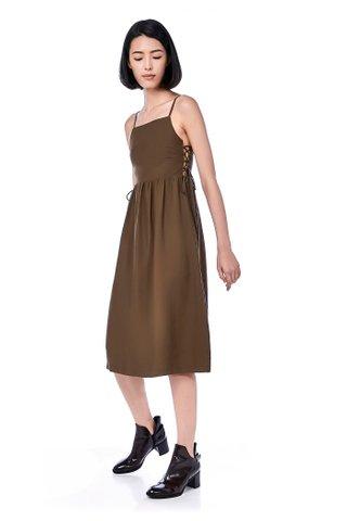 Smyth Side Lace-Up Midi Dress