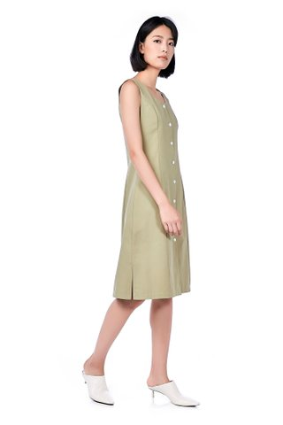 Verny Button-Through Midi Dress