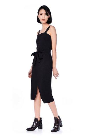 Jass Overlap Midi Dress