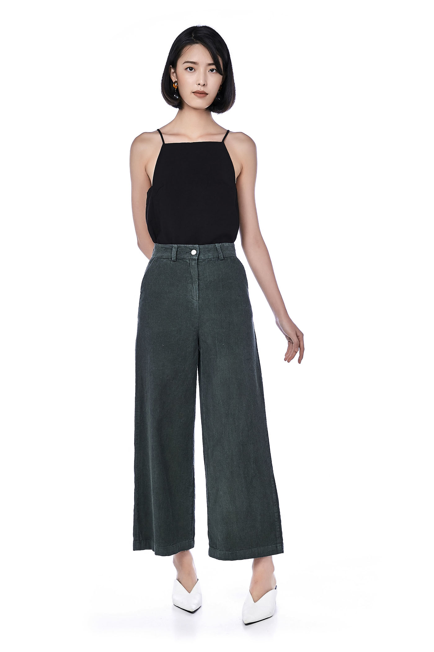Cleo Corduroy Wide Leg Trousers