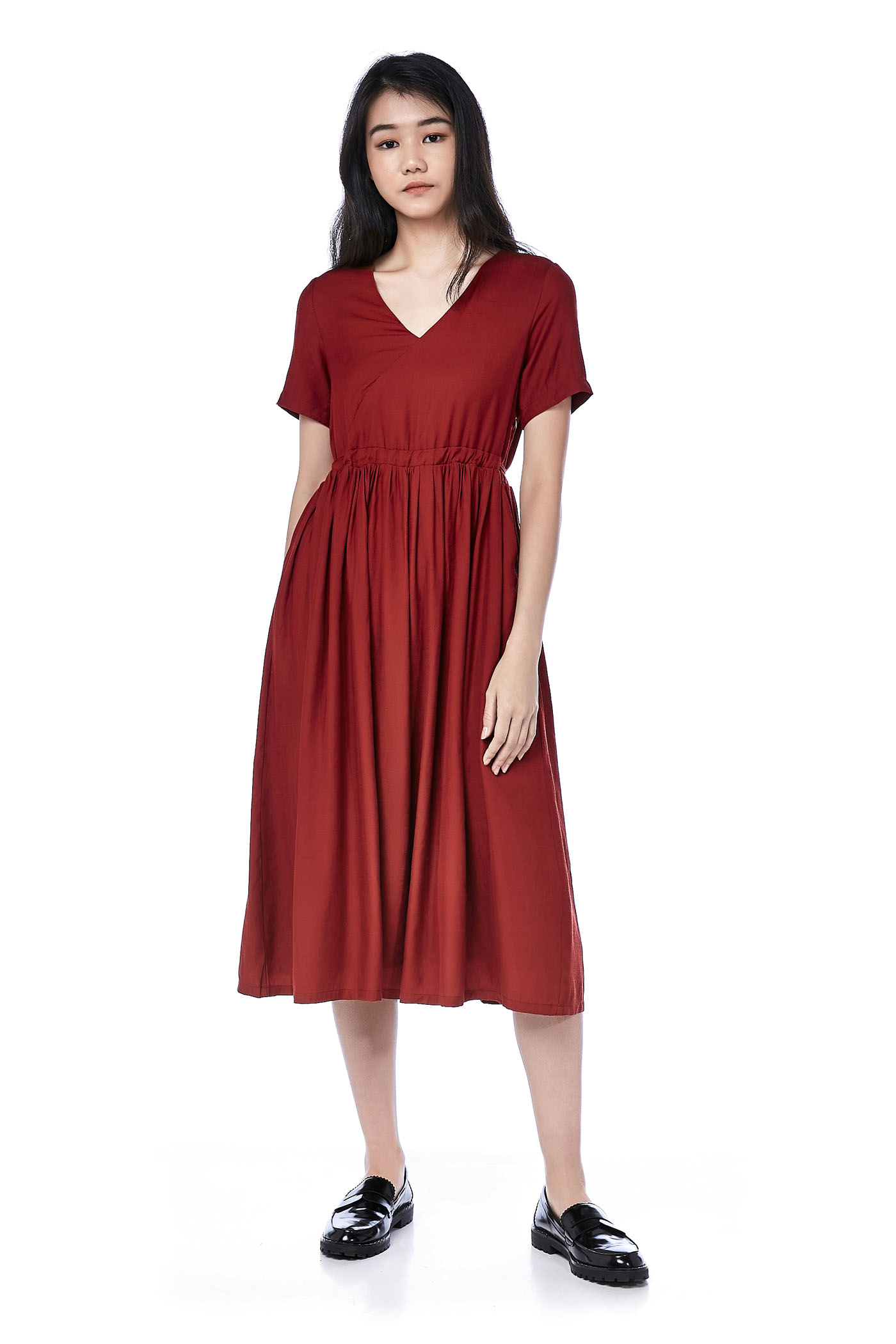 Arfen Ruched Midi Dress