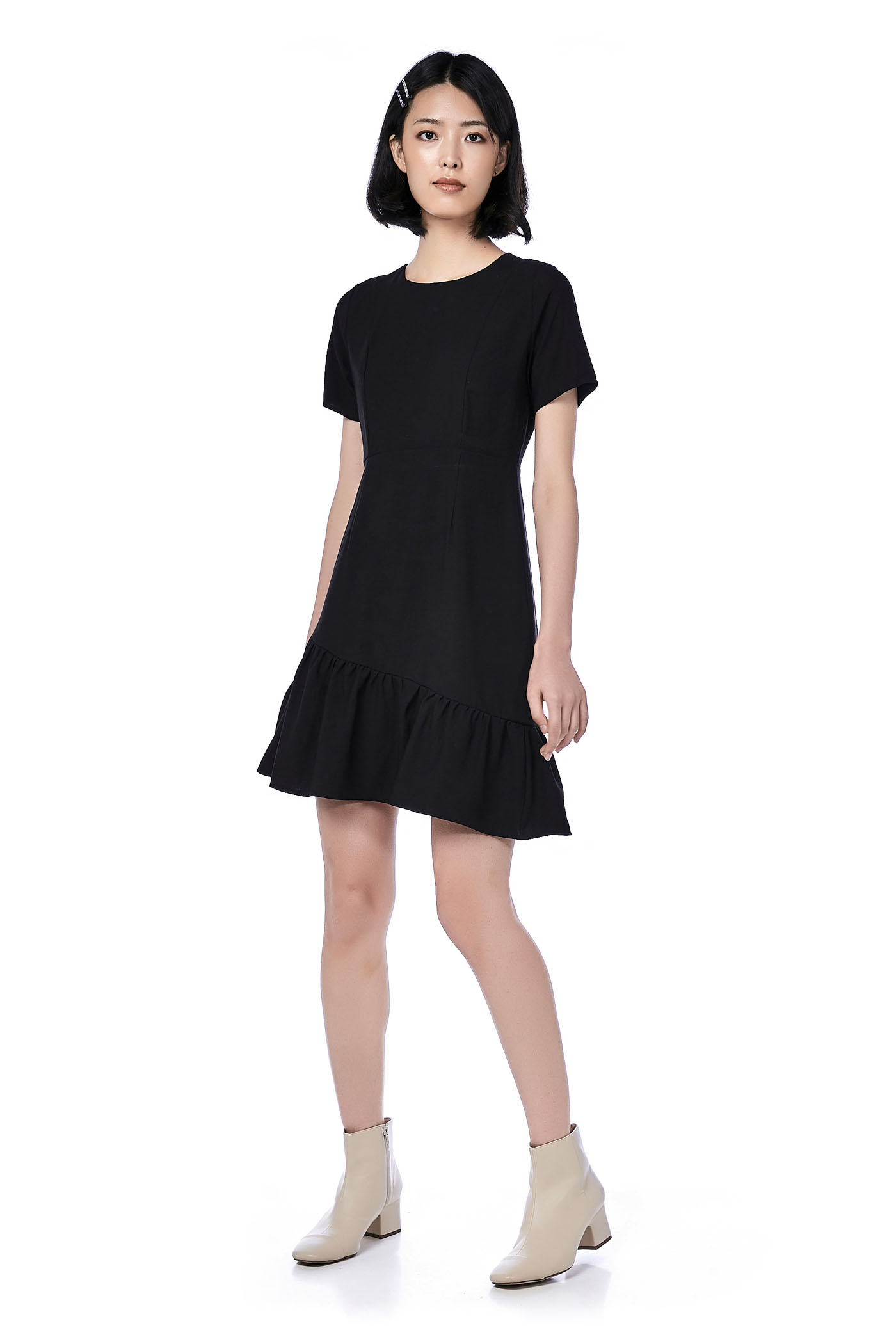 Riah Ruffle-Hem Dress