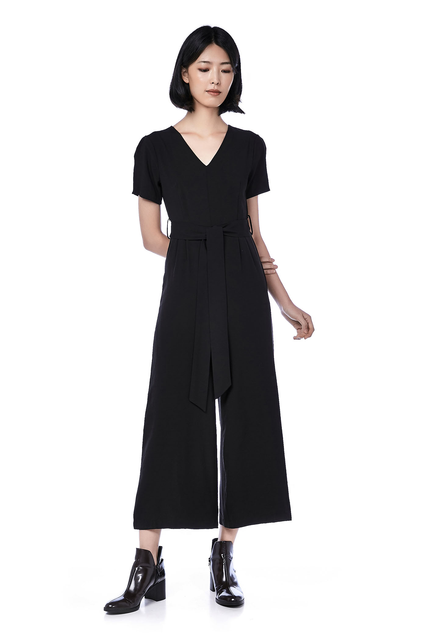 Roen V-Neck Jumpsuit