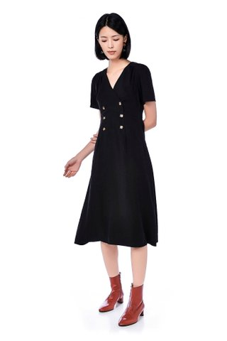 Roi Double-Breasted Midi Dress