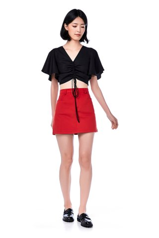 Asler Drawstring Crop Top