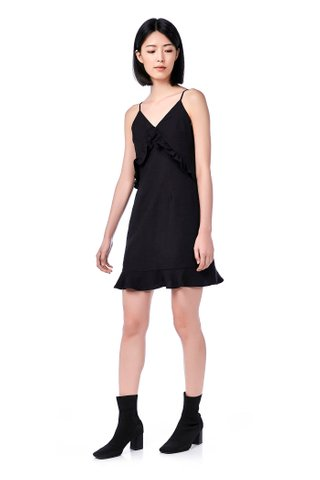Alondra Frill-Trim Mini Dress