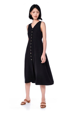 Mirabel Button-Through Maxi Dress