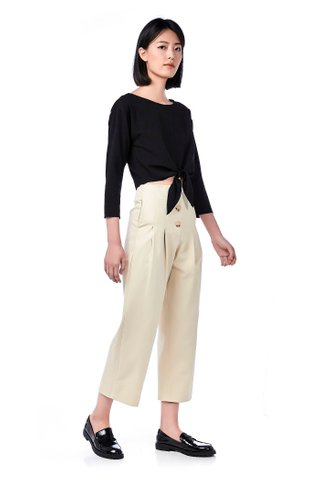 Praia Button-Down Wide-Leg Pants