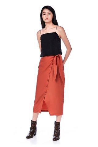 Lipps Overlap Tie-Waist Skirt