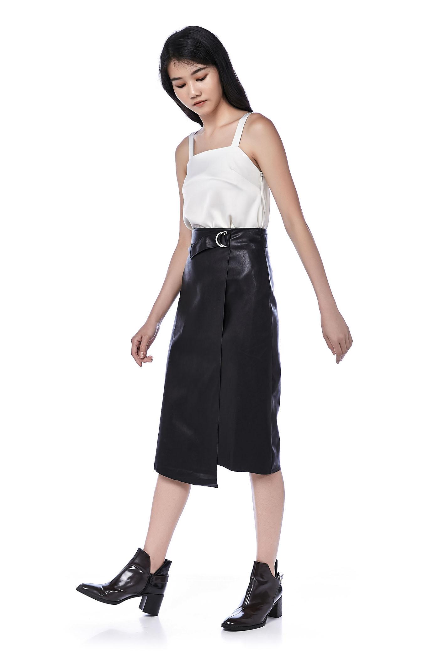 Leanor Asymmetrical Belted Skirt