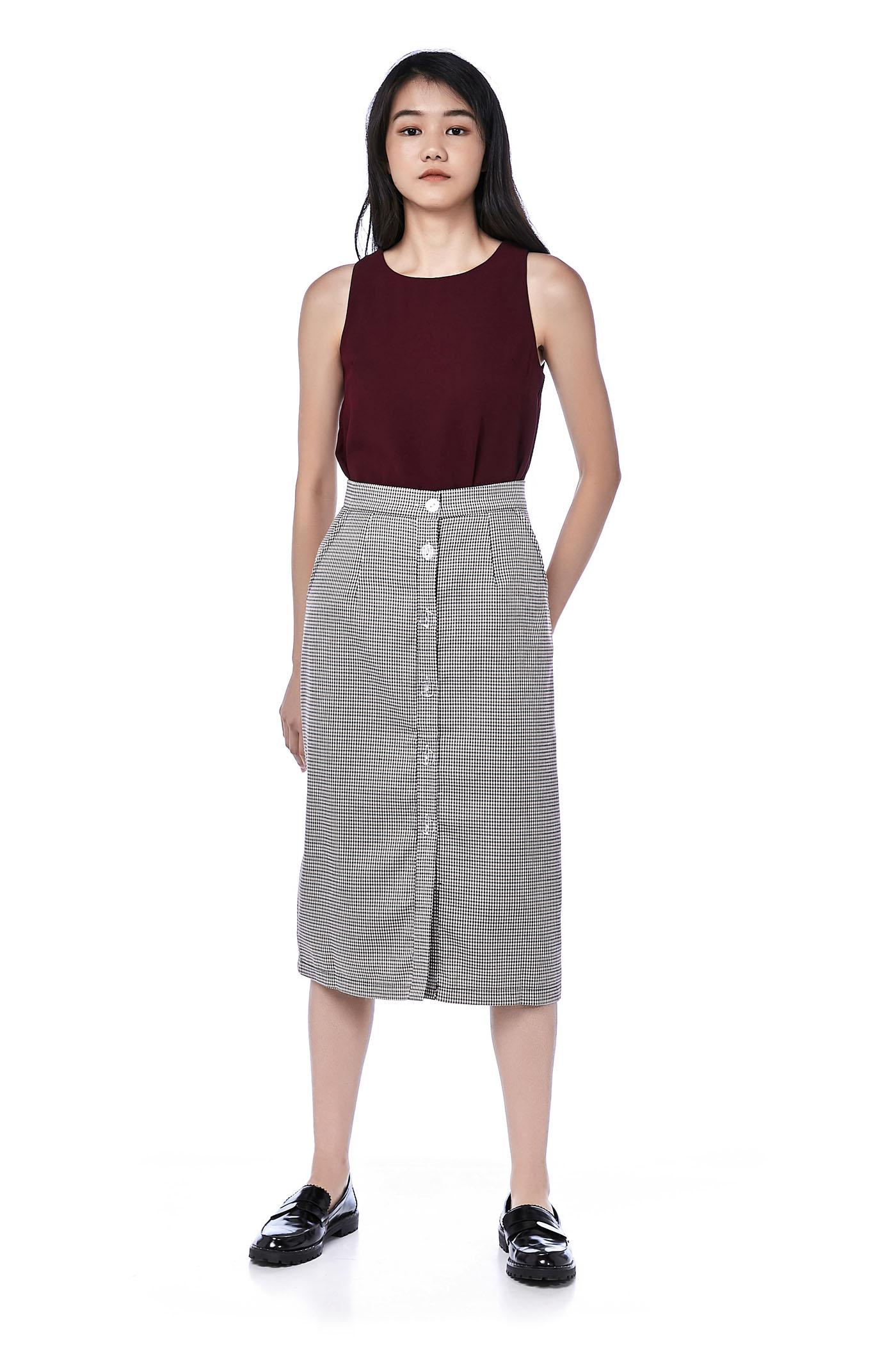 Marleen Button-Down Midi Skirt