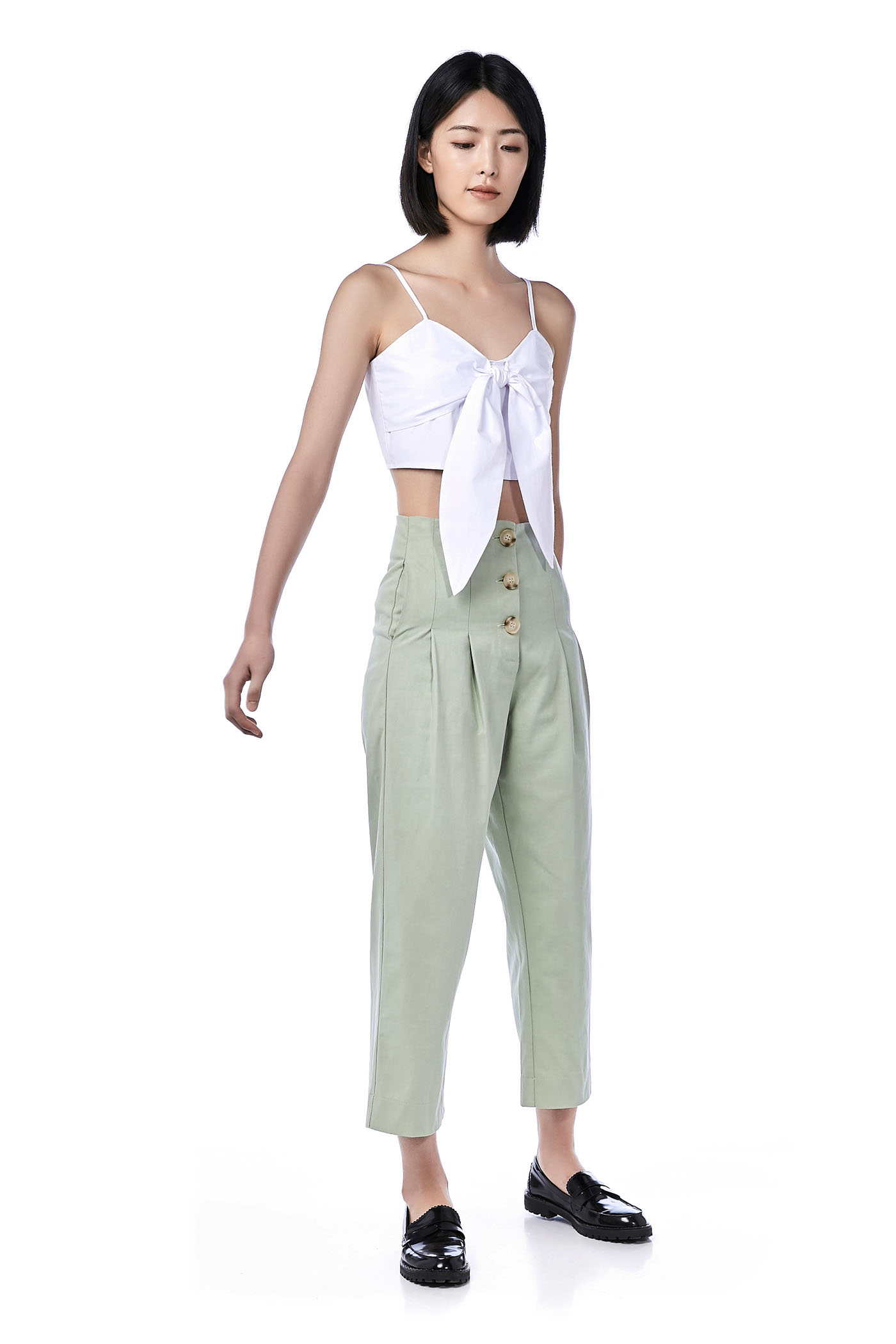 Eclair Front-Knot Crop Top
