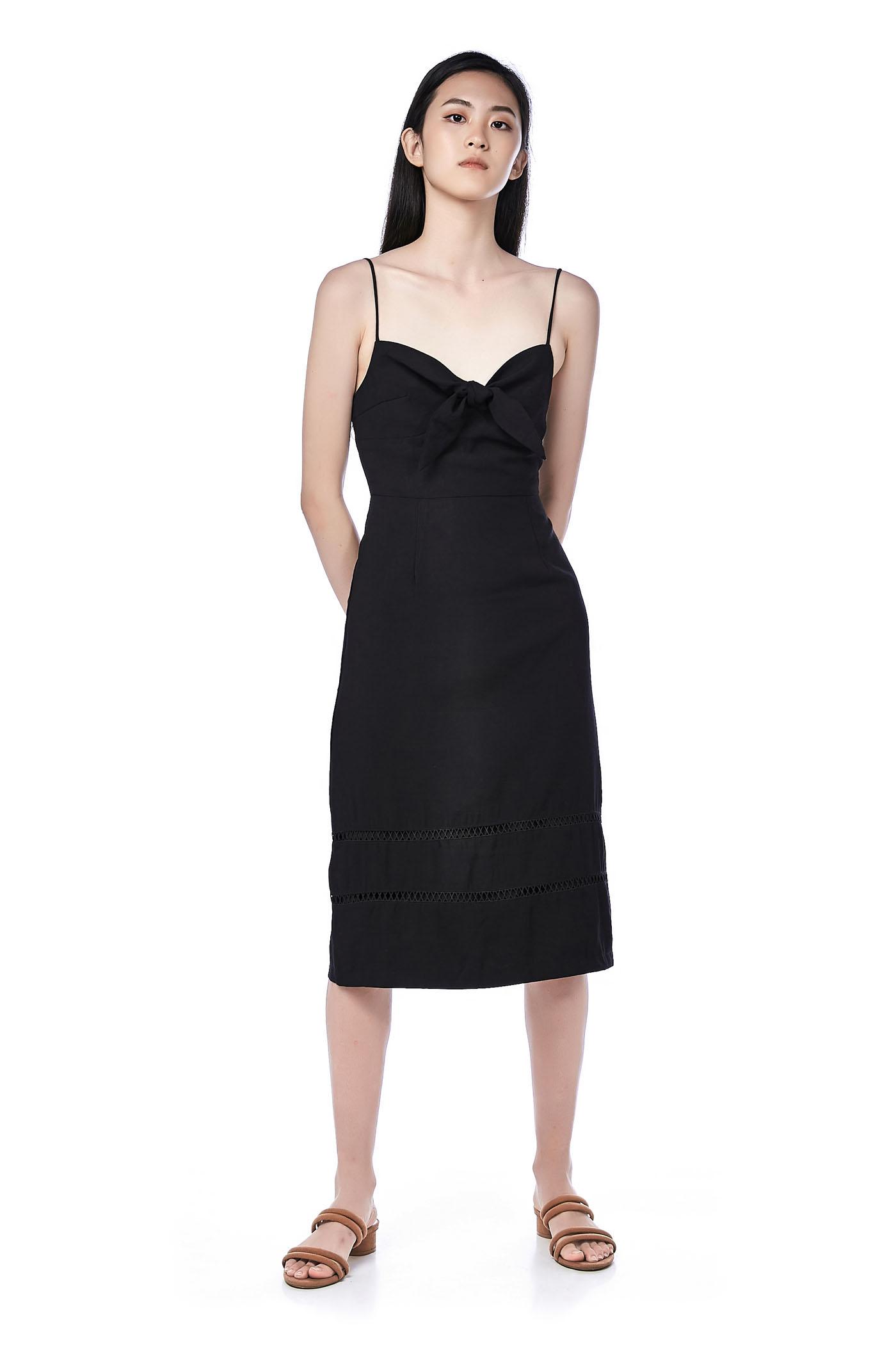 Davie Front-Tie Dress