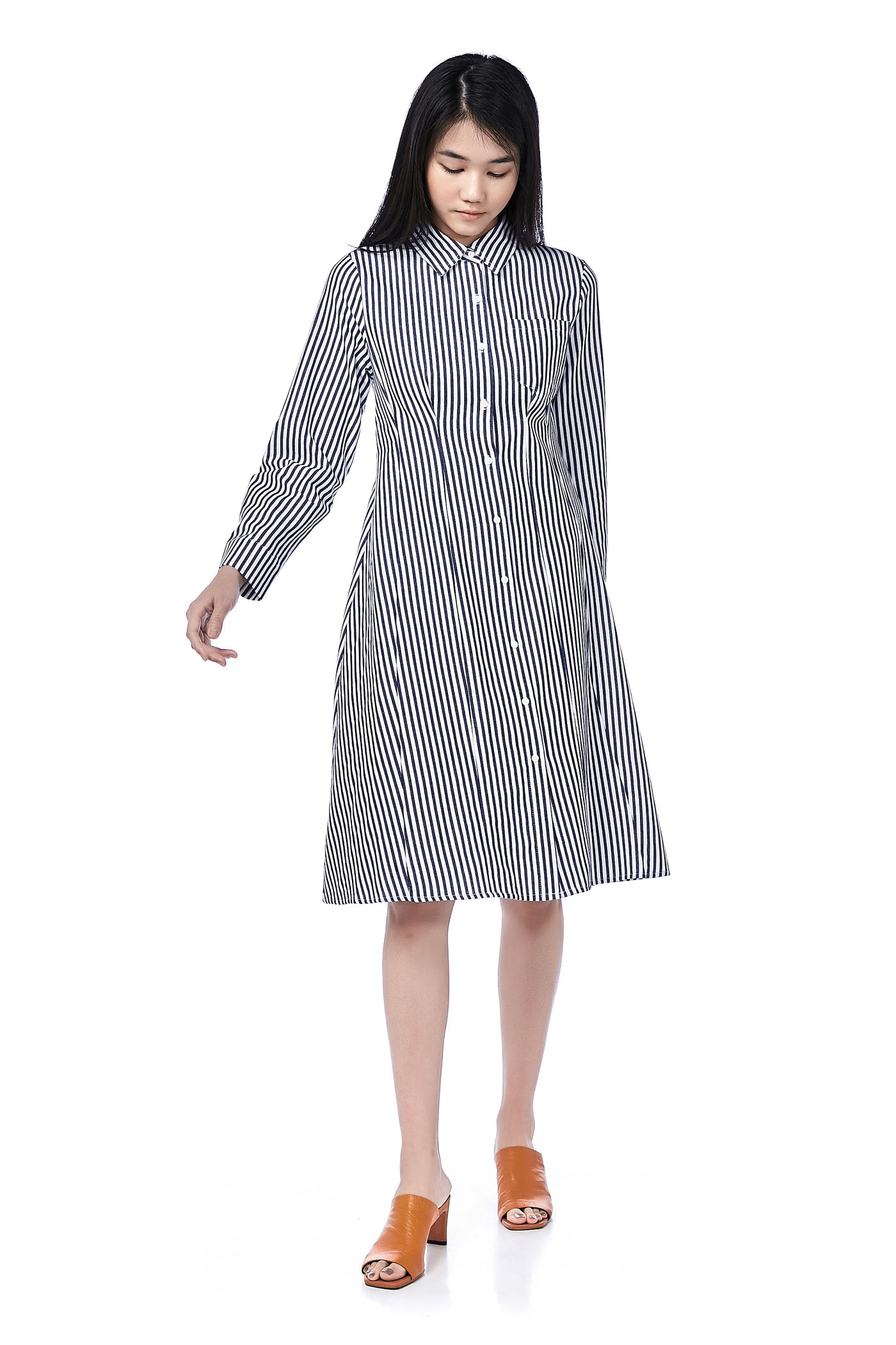 Caylee Tuck-Seam Shirtdress