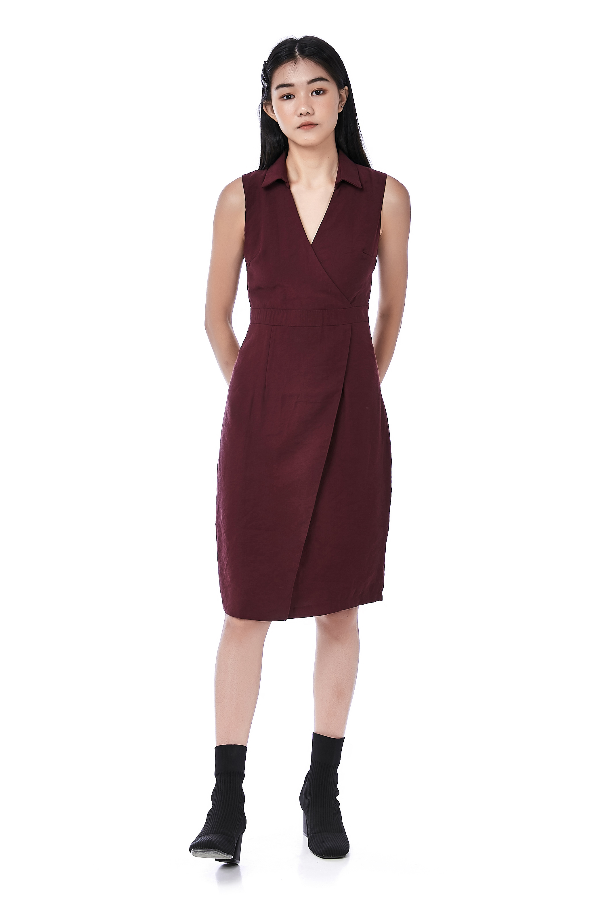 Kriss Overlap Sheath Dress