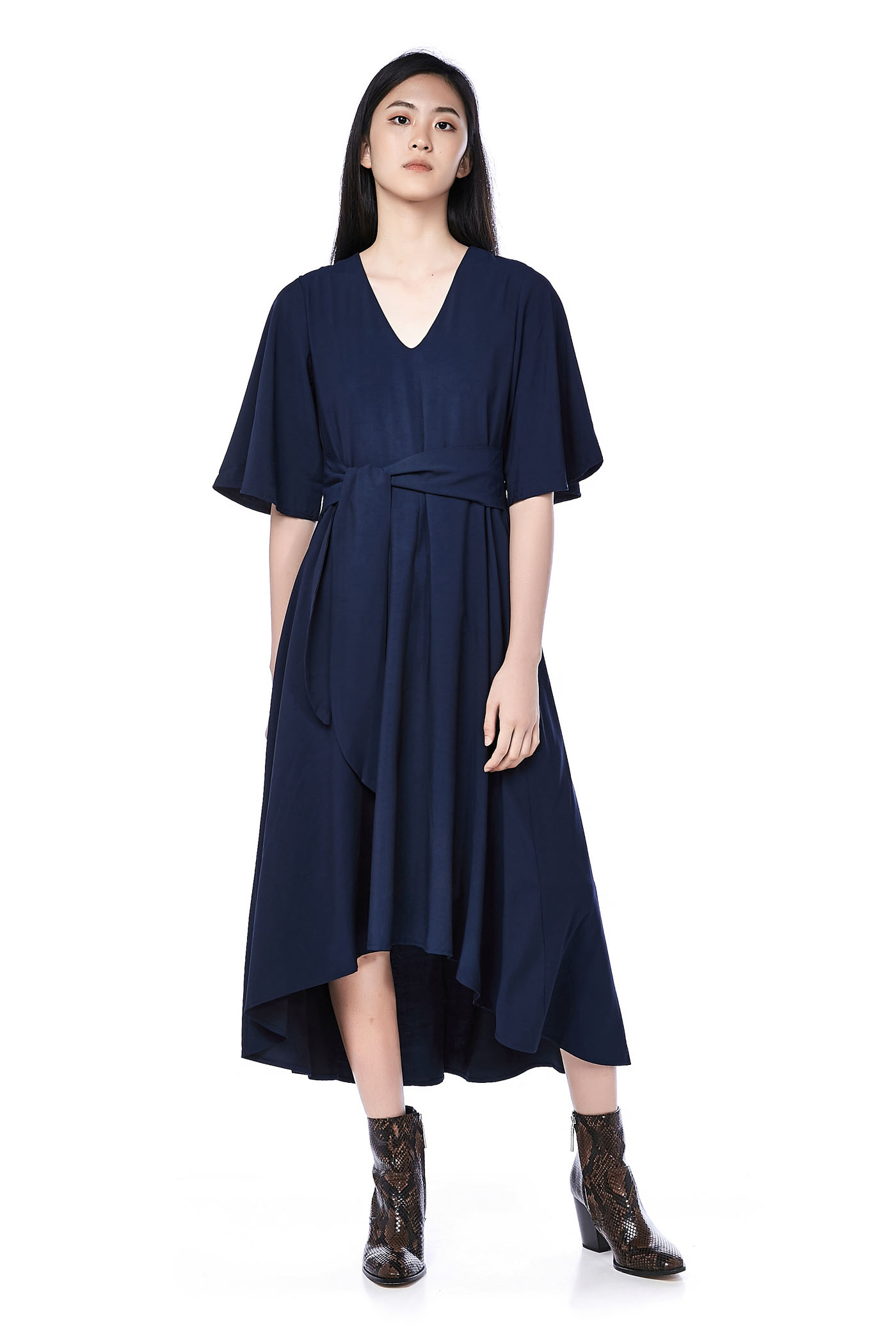 Berra Dip-Hem Dress